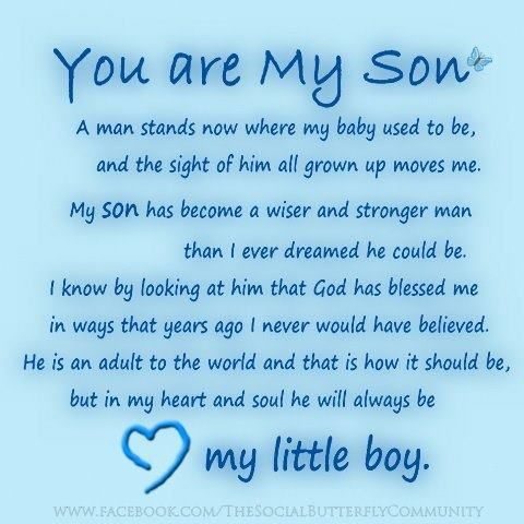 You Are My Son Sons Are Treasure From God With So Many Blessings