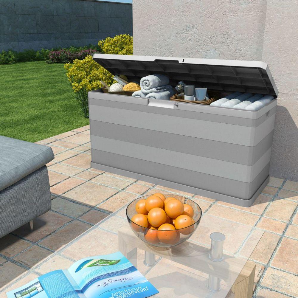 H4home Outdoor Storage Chest Box Garden Patio Toolbox Grey