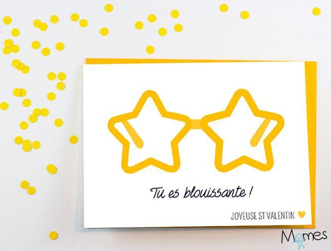 Carte Saint Valentin : les lunettes-étoiles