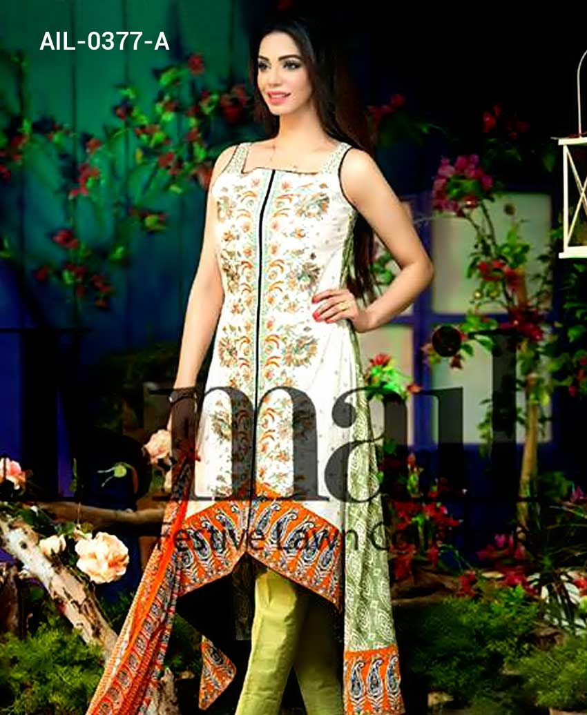 Aila pretty design of amna ismail unstitched lawn suit