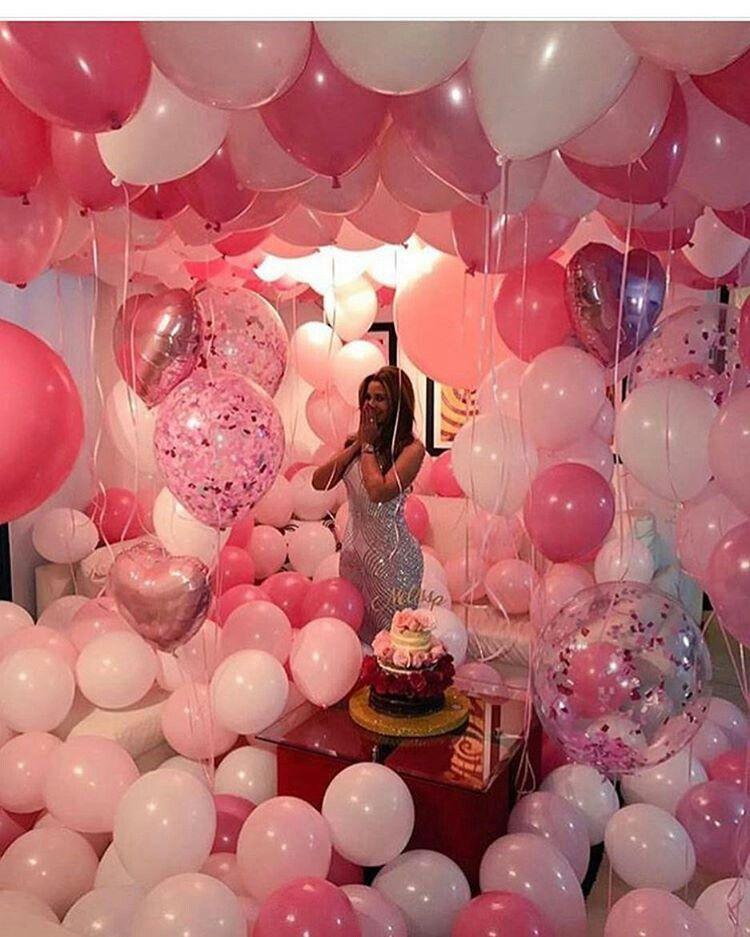 Balloon Suprise Birthday Present Gifts Pink White Silver Shocked Reaction Pinterest Rollody