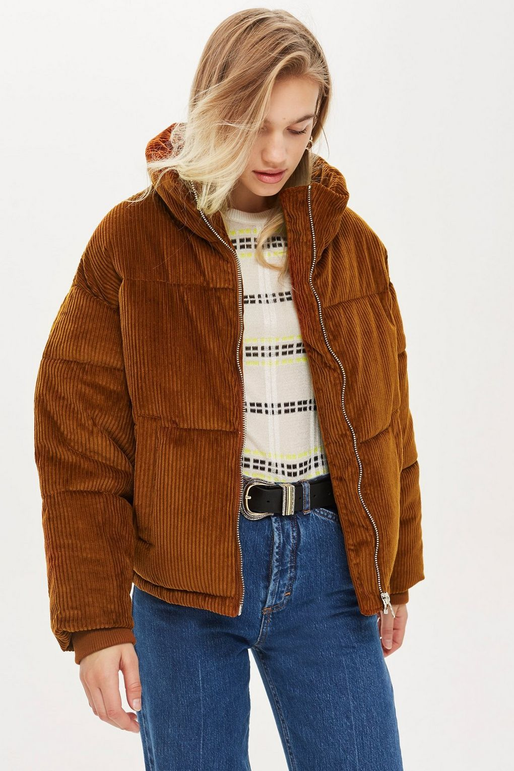 Chunky Corduroy Puffer Jacket - New In Fashion - New In - Topshop USA c650386da
