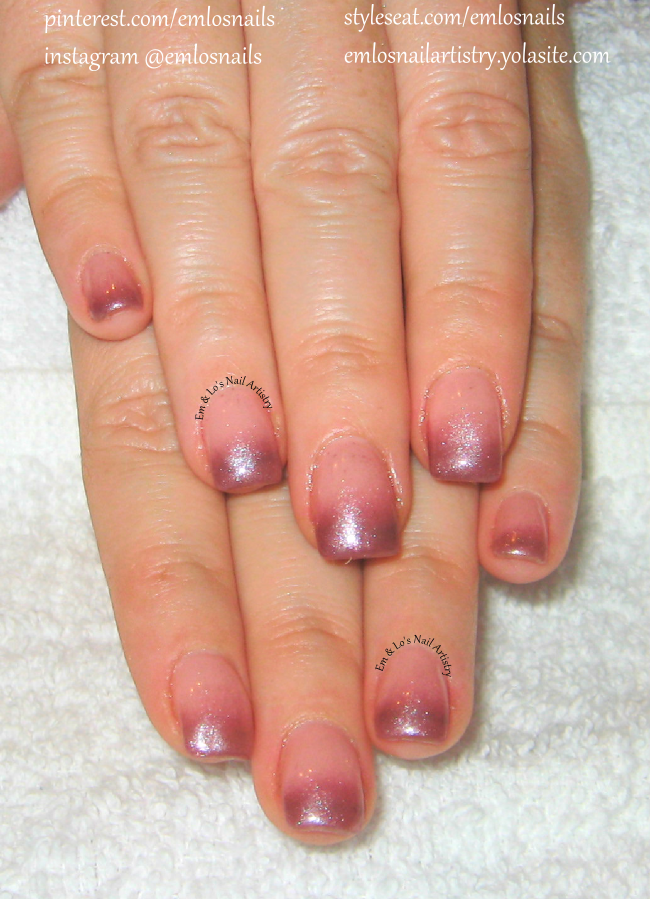 Gel Nails ~ Gel ~ Ombre Nails ~ Natural Nail Gel Overlay ~ Nude to ...