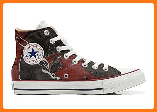 Converse All Star Slim personalisierte Schuhe (Handwerk Produkt) Hot Colore Paisley  41 EU