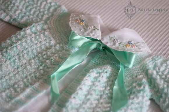Casaquinho lã para Bebê feito a mão RN