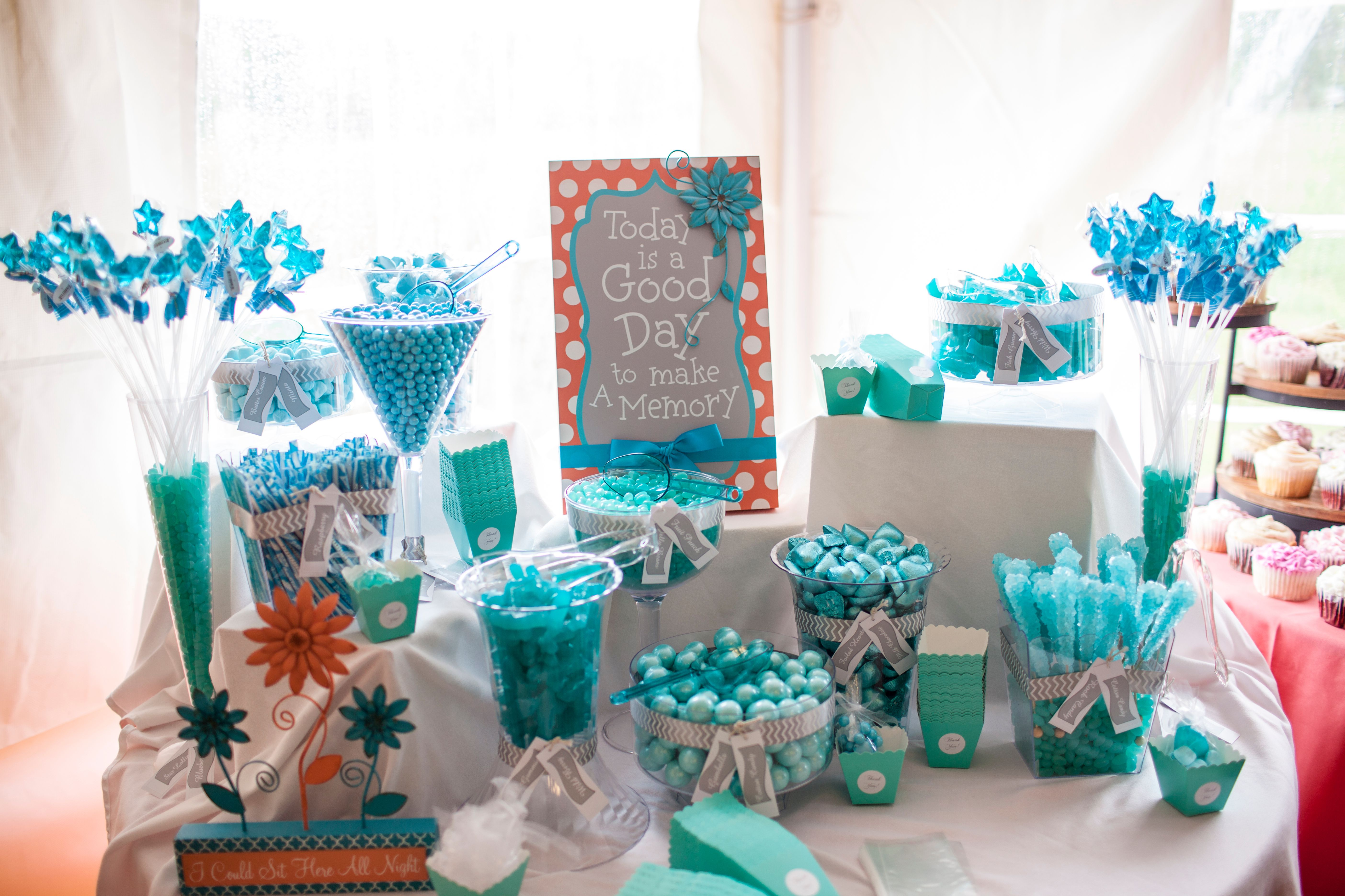 The Ceremony Is On Waters Edge Outdoors With Green Meadows Located Near Durango Colorado We Loved This Wedding Candy Bar