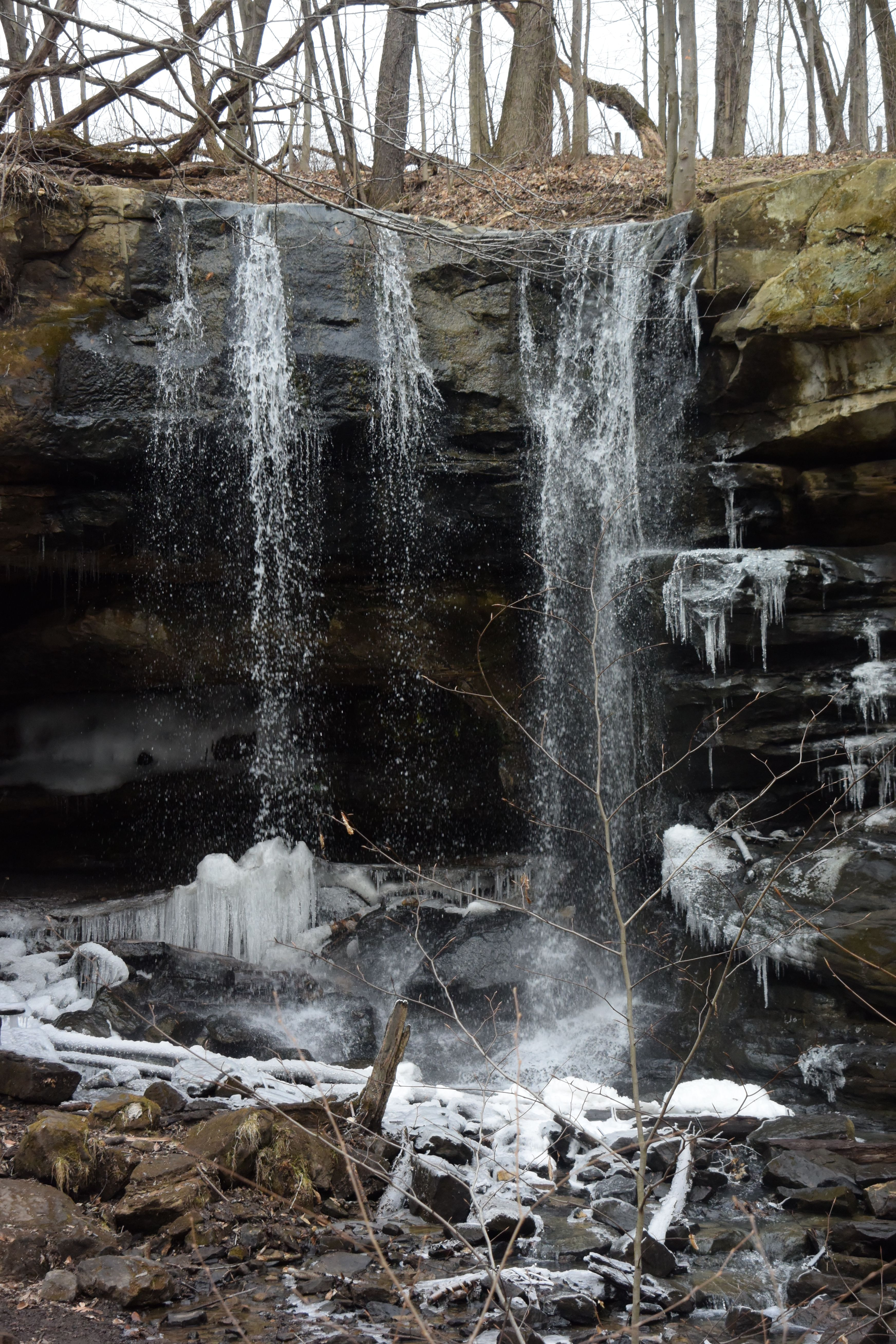 Winter At Dundee Falls Dundee Ohio Scenic Natural Landmarks Landmarks