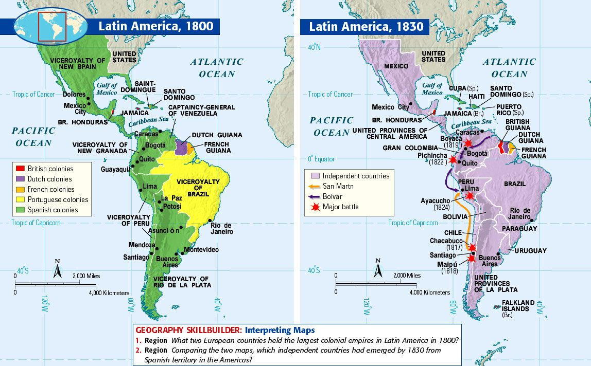 a history of the latin america wars of independence Latin american independence this causes an authority crisis in the spanish colonies and sparks the latin american wars of independence history of the.