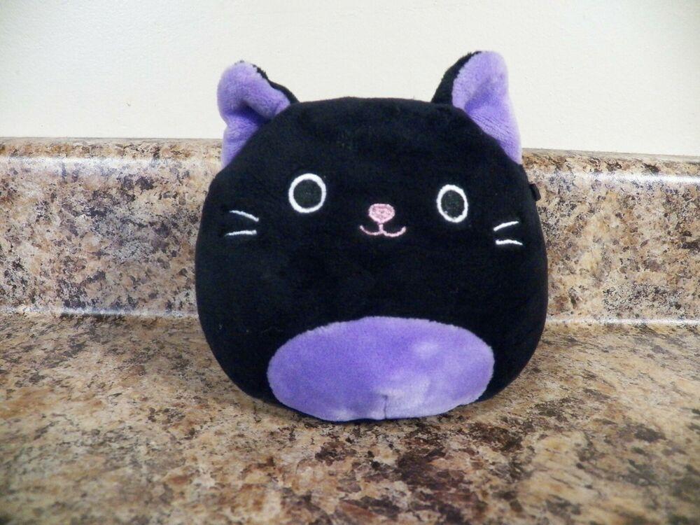 Squishmallow 4 Black Purple Cat Autumn Rare Find 2020 Halloween Htf Ebay Purple Cat Travel Pillow Purple