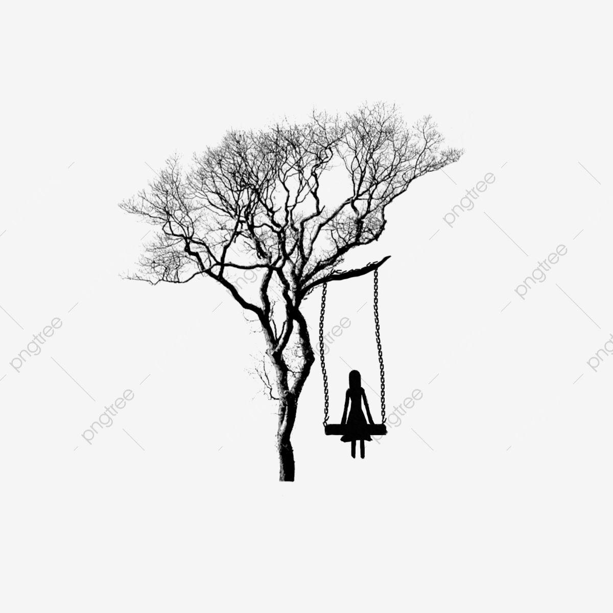 Black Tree Man Silhouette Cartoon Design Material Black Cartoon Tree Png Transparent Image And Clipart For Free Download Cartoon Design Black Tree Design