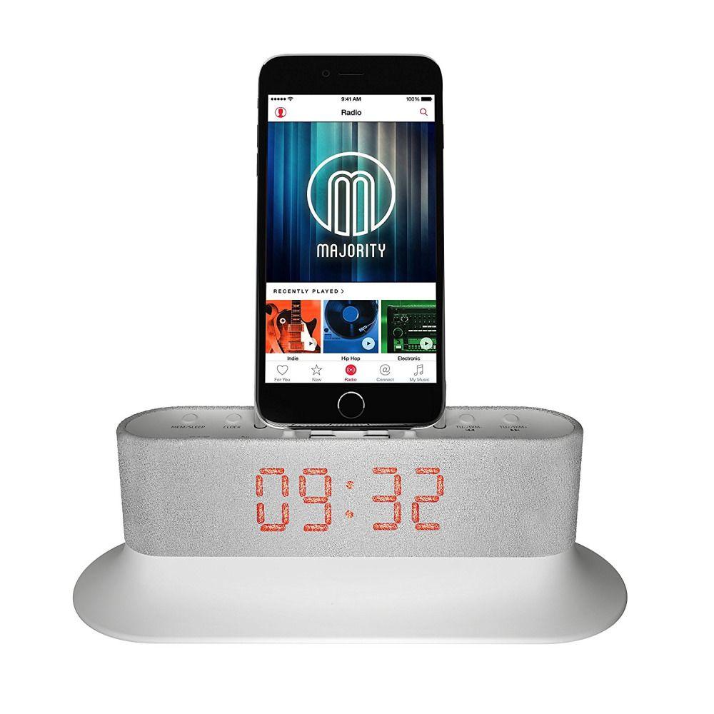 Apple iphone docking station alarm clock radio lightning