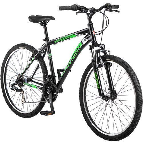 Amazon Com 26 Schwinn Sidewinder Men S Mountain Bike Matte Black Green Sports Outdoors Mens Mountain Bike Schwinn Mountain Biking
