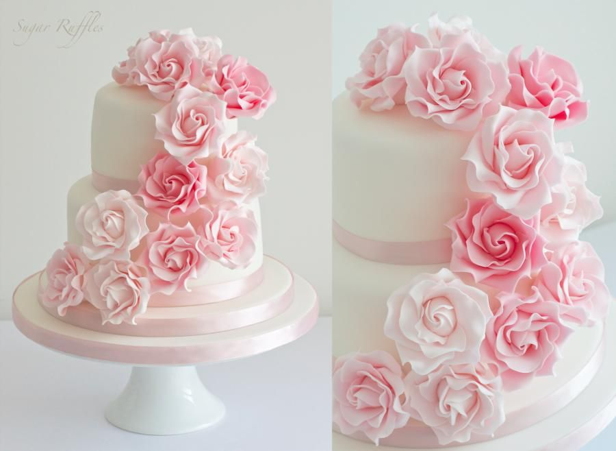 Pink Cascading Roses