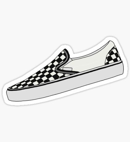 e066a7ab00aa5f Vans Slip On - Checkered Sticker