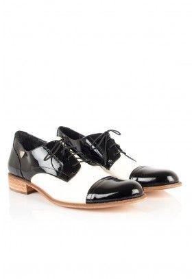 e23205da9f6 Lowe - Zapatos Charol negro blanco