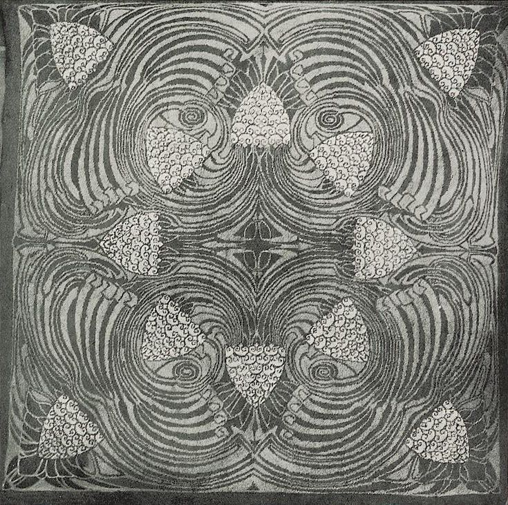 Carpet Design By Patriz Huber Produced In 1900 Carpet Design New Art Art Design