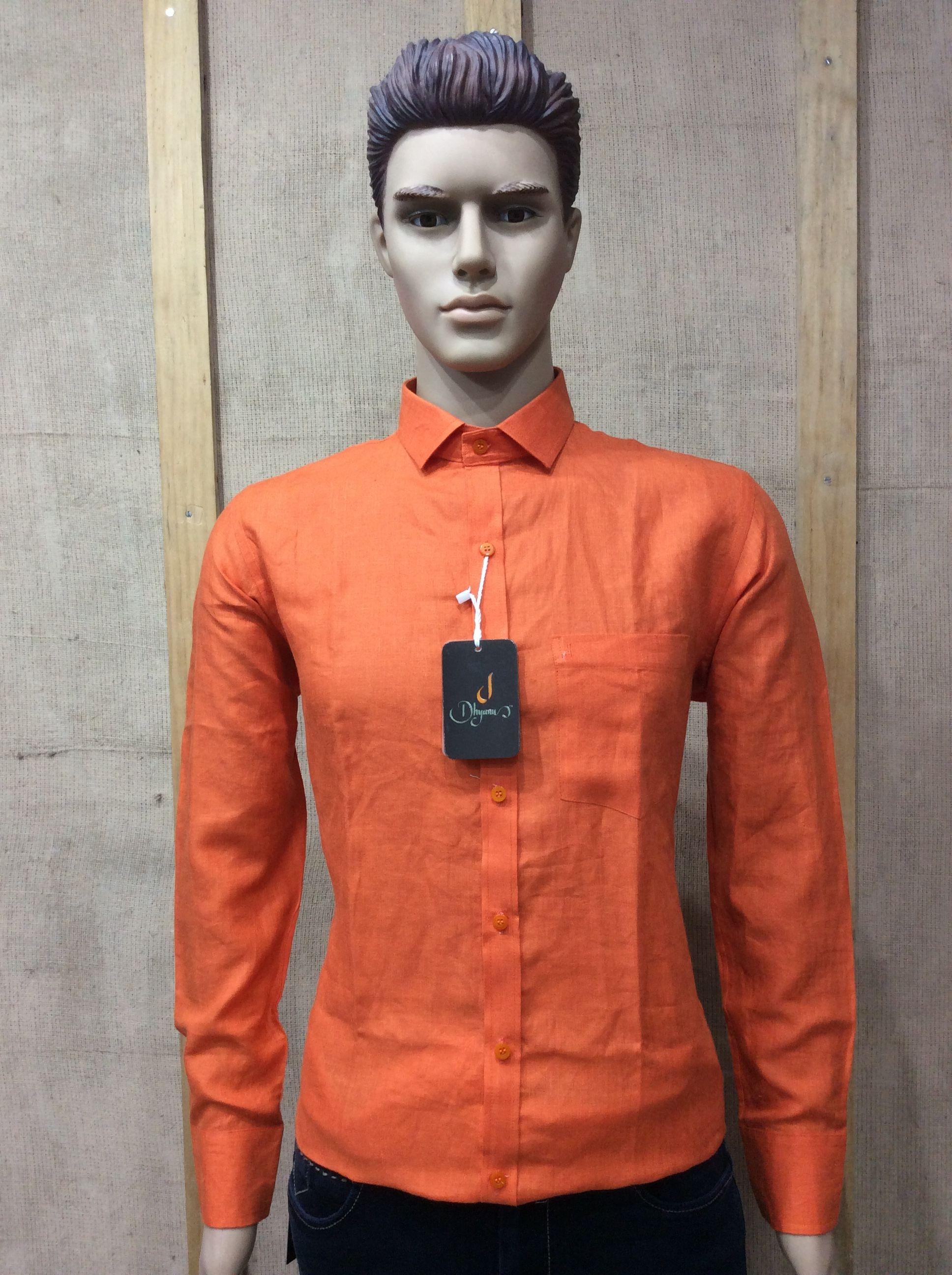 100 Pure Linen Shirt 60 Lea Fabric Dhyanu Brand Shirt Linen Shirt Pure Linen Branded Shirts