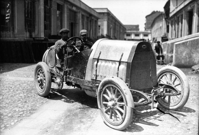 grand prix de dieppe 1912 voiture fiat de course 3 4 avant photographie de presse agence. Black Bedroom Furniture Sets. Home Design Ideas