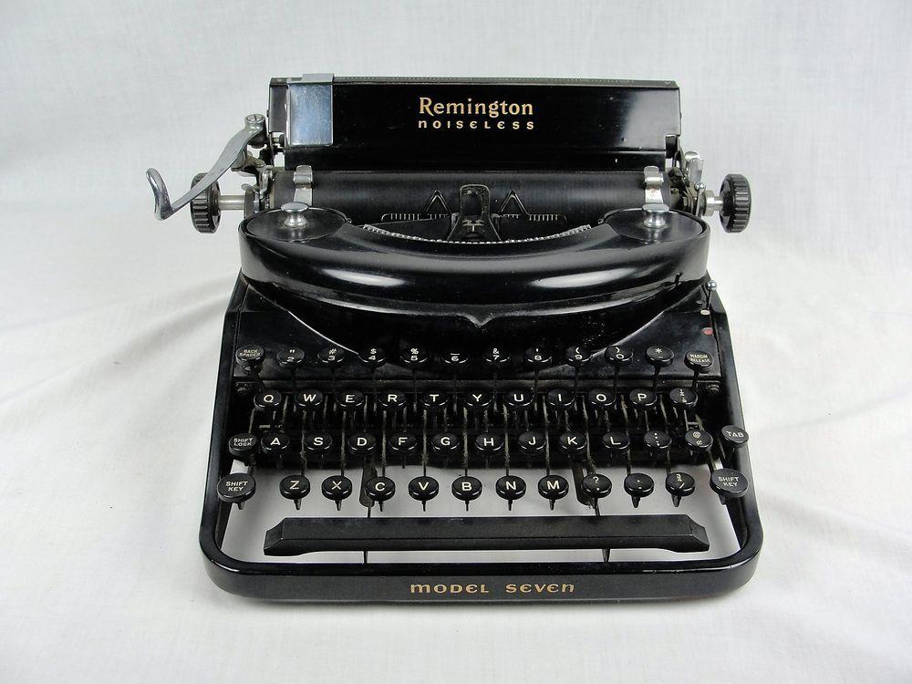 1930's Remington Portable Model 7 Noiseless Typewriter Serial # H42206