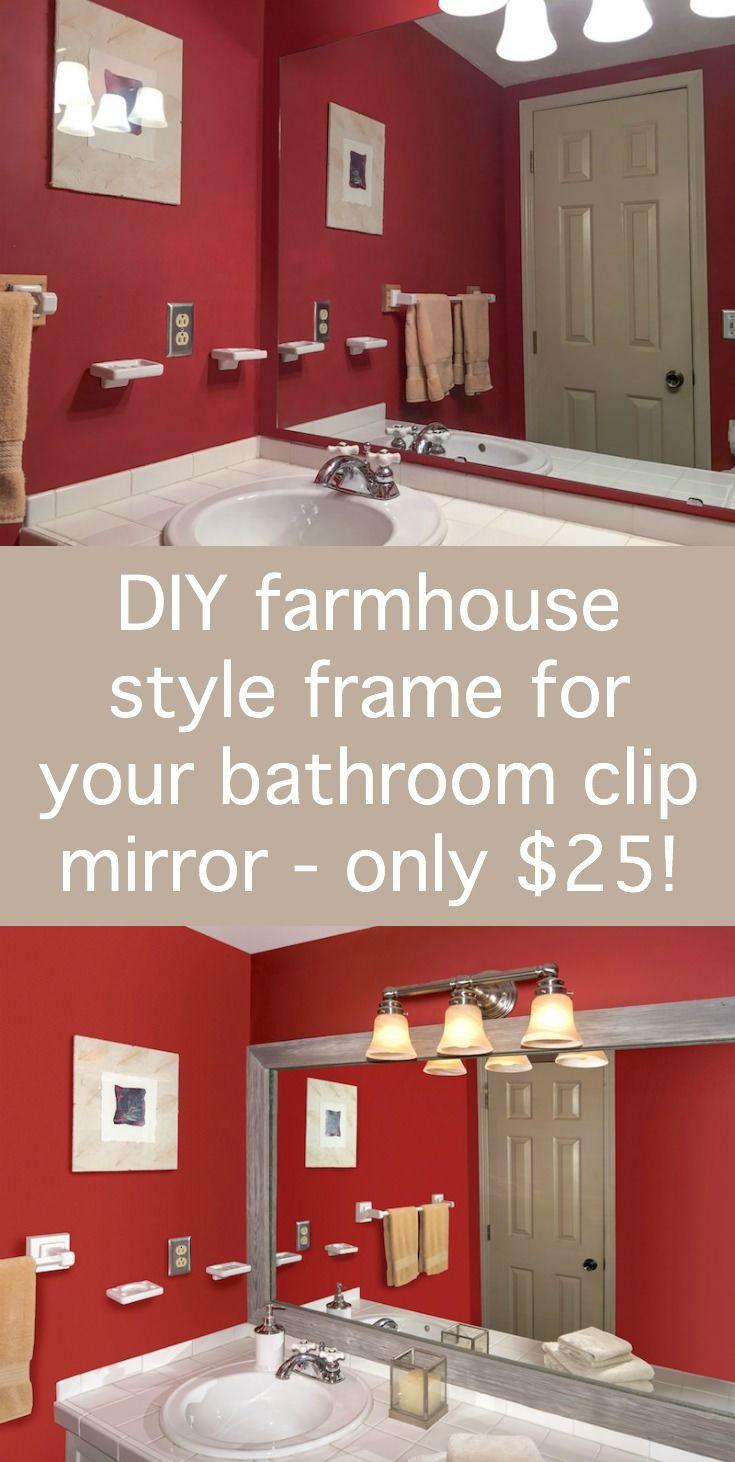 Make A Mirror Frame For The Bathroom On A Budget Diy Mirror