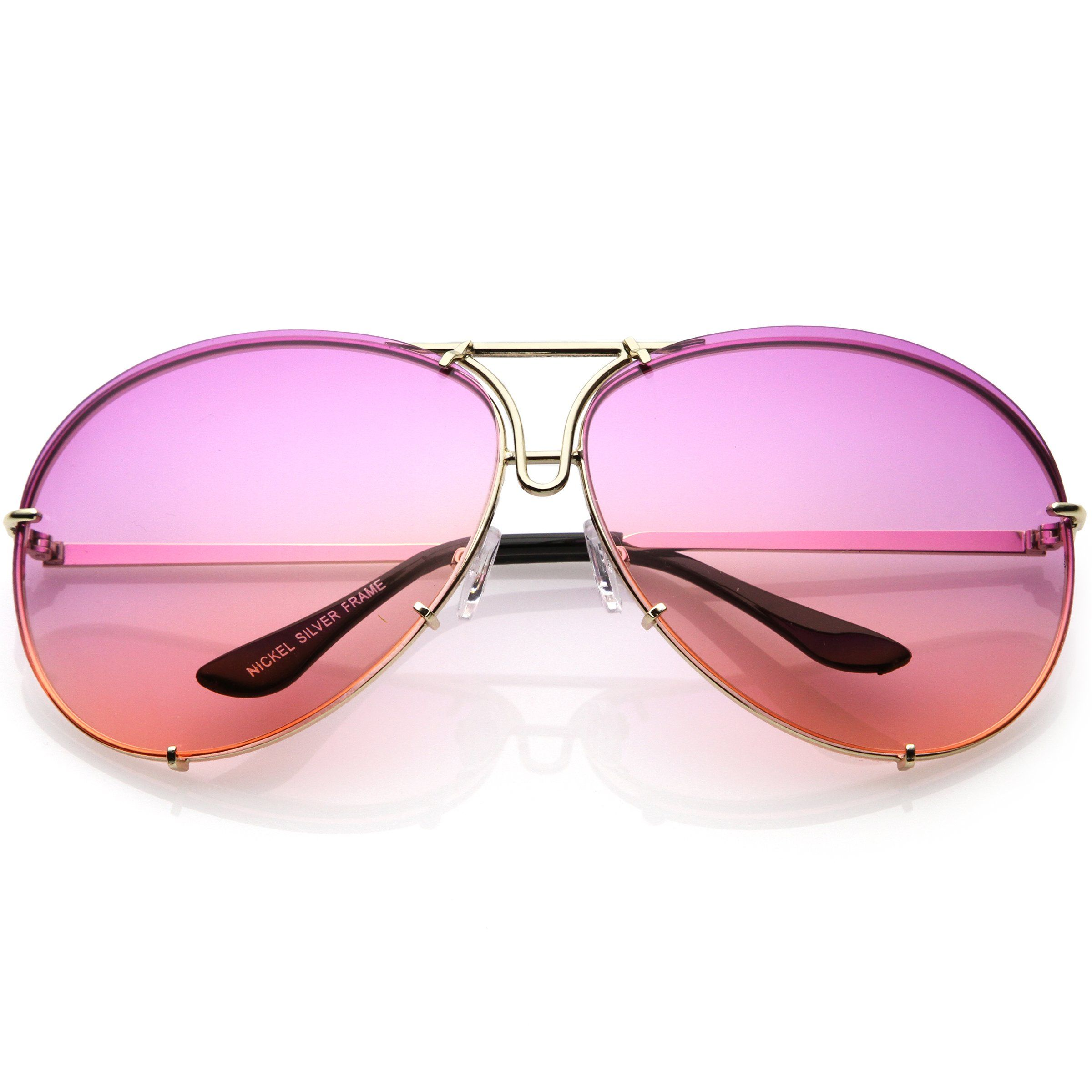 10fbb8ffa81 Retro Oversize Colorful Gradient Lens Aviator Sunglasses C336 ...