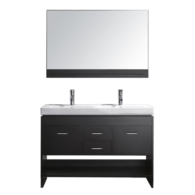 Virtu Usa Gloria 48 Vanity Square Sink Simple Bathroom