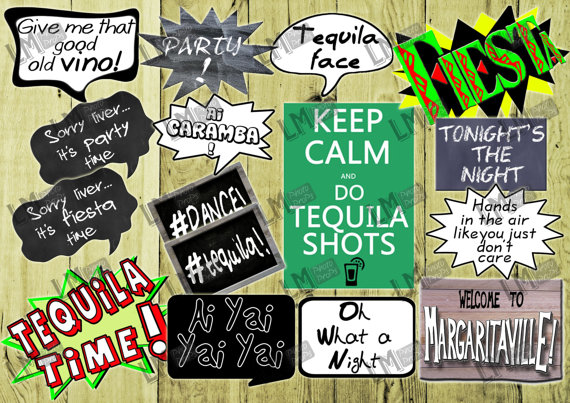 Mexican Fiesta Themed Photo Booth Sayings Includes By Lmphotoprops