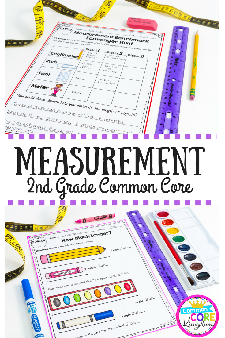 medium resolution of Measurement 2nd Grade Common Core 2.MD.A.1 Measurement Tools 2.MD.A.2  Measurement Units 2.MD.A.3 Estimate Lengt…   2nd grade math