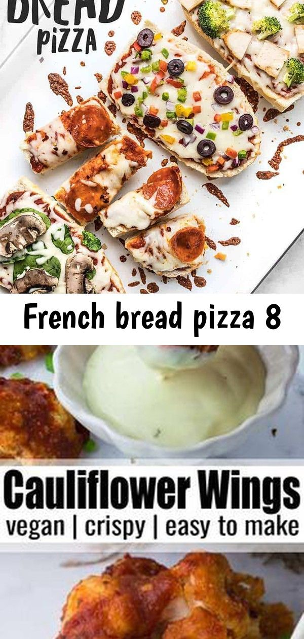 French bread pizza 8 French Bread Pizza is the perfect budgetfriendly fast and easy weeknight dinner Customize the toppings to fit your taste buds or what you have on han...