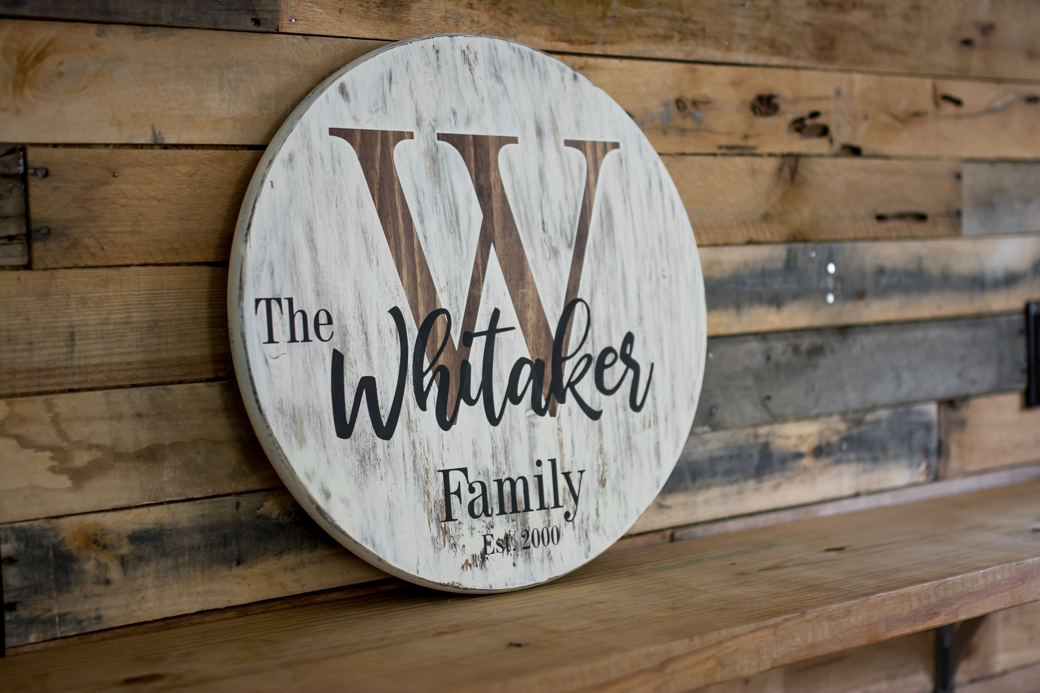Personalized Wooden Sign Round