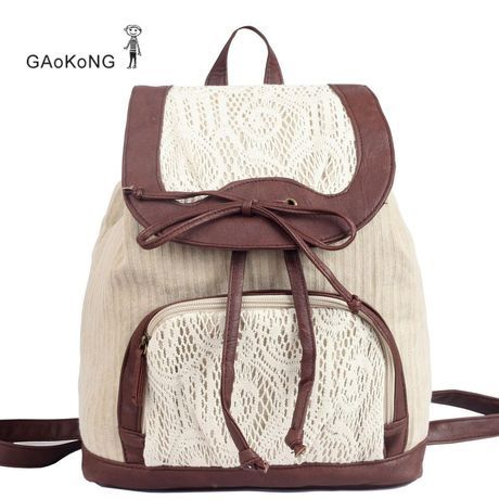Retro Cute Lace Bowknot Backpack Bag