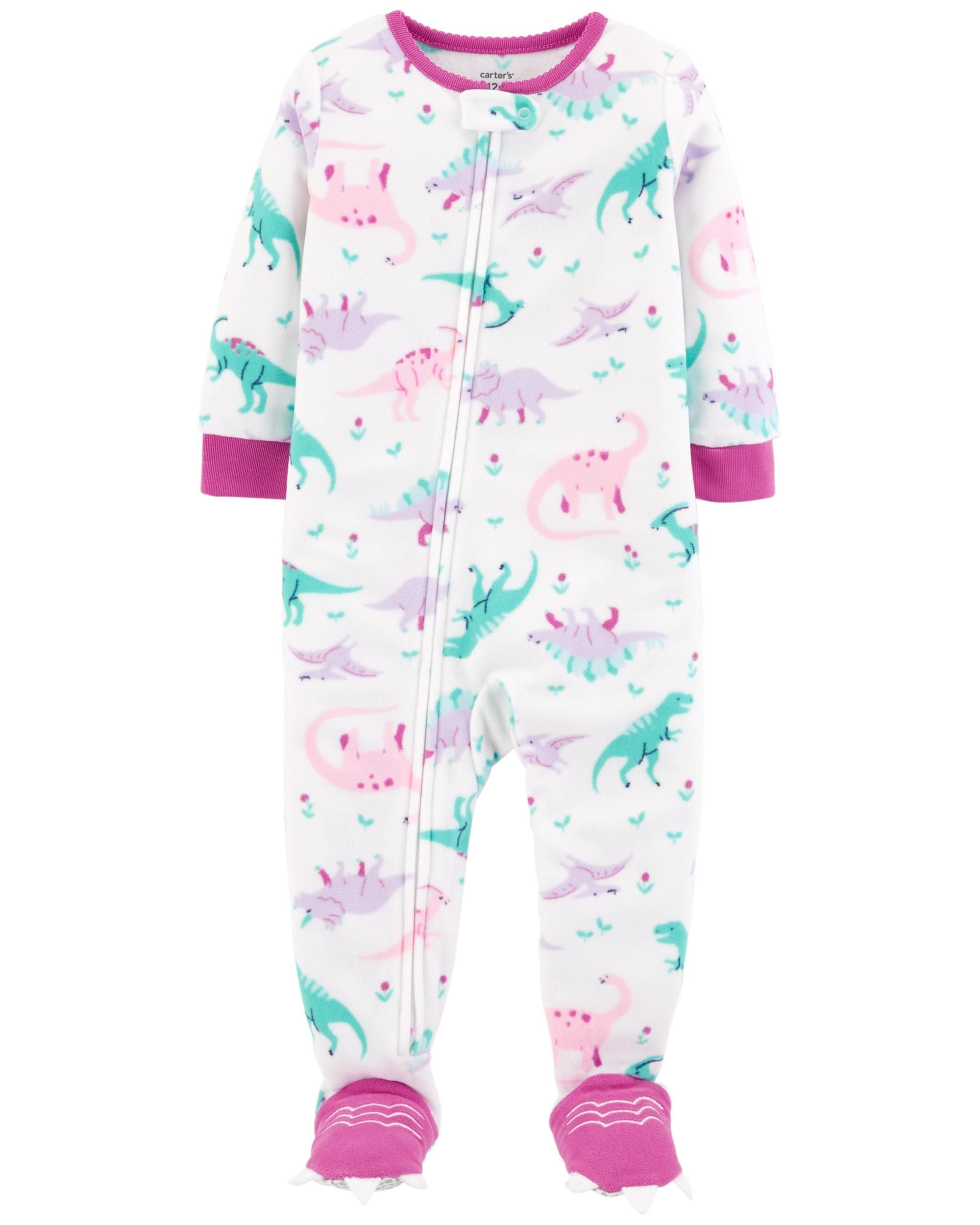 1-Piece Dinosaur Fleece PJs  ee764453e