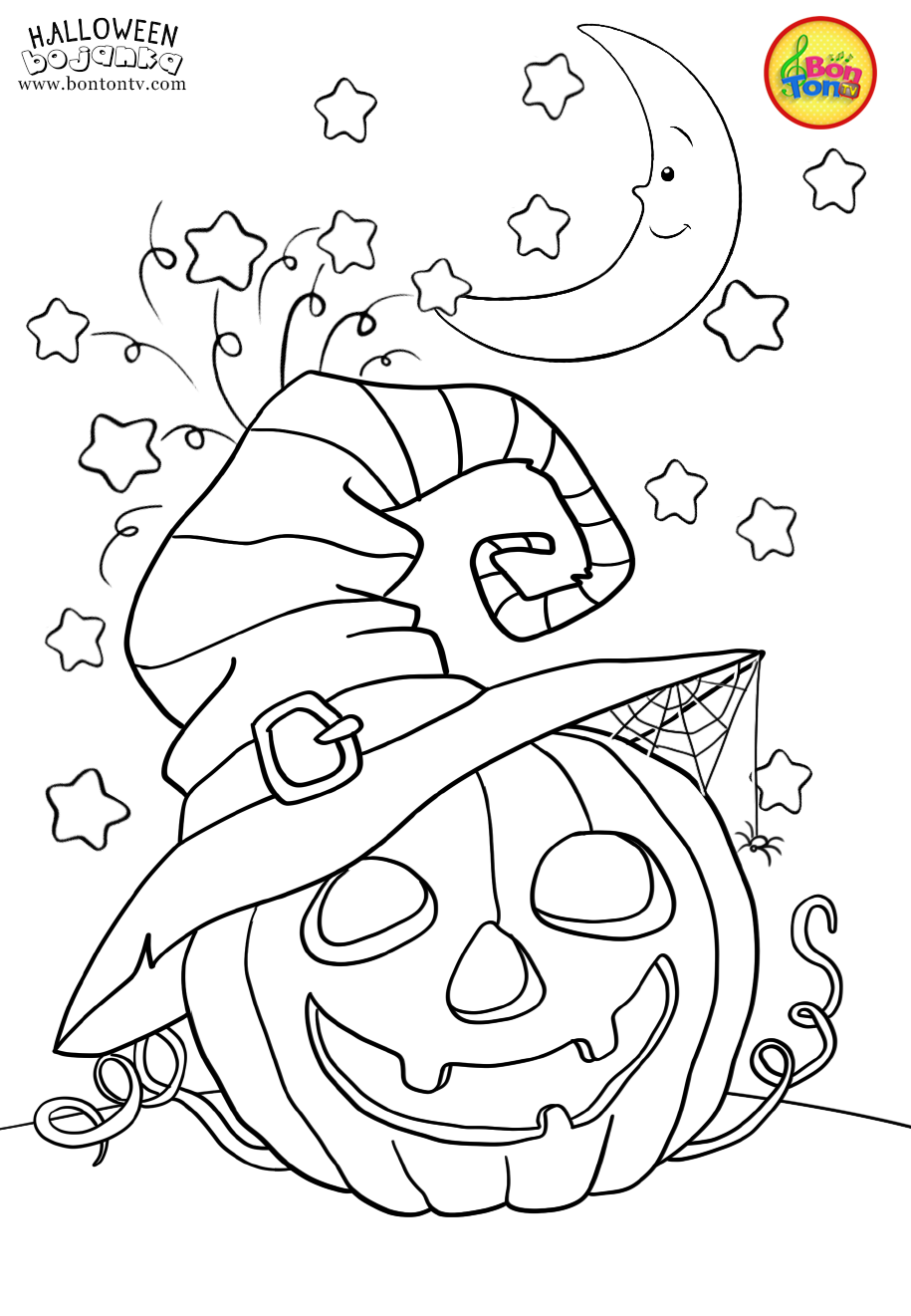 Halloween Coloring Pages For Kids Free Preschool Printables Noc Vjestica Halloween Coloring Book Halloween Coloring Pages Printable Pumpkin Coloring Pages