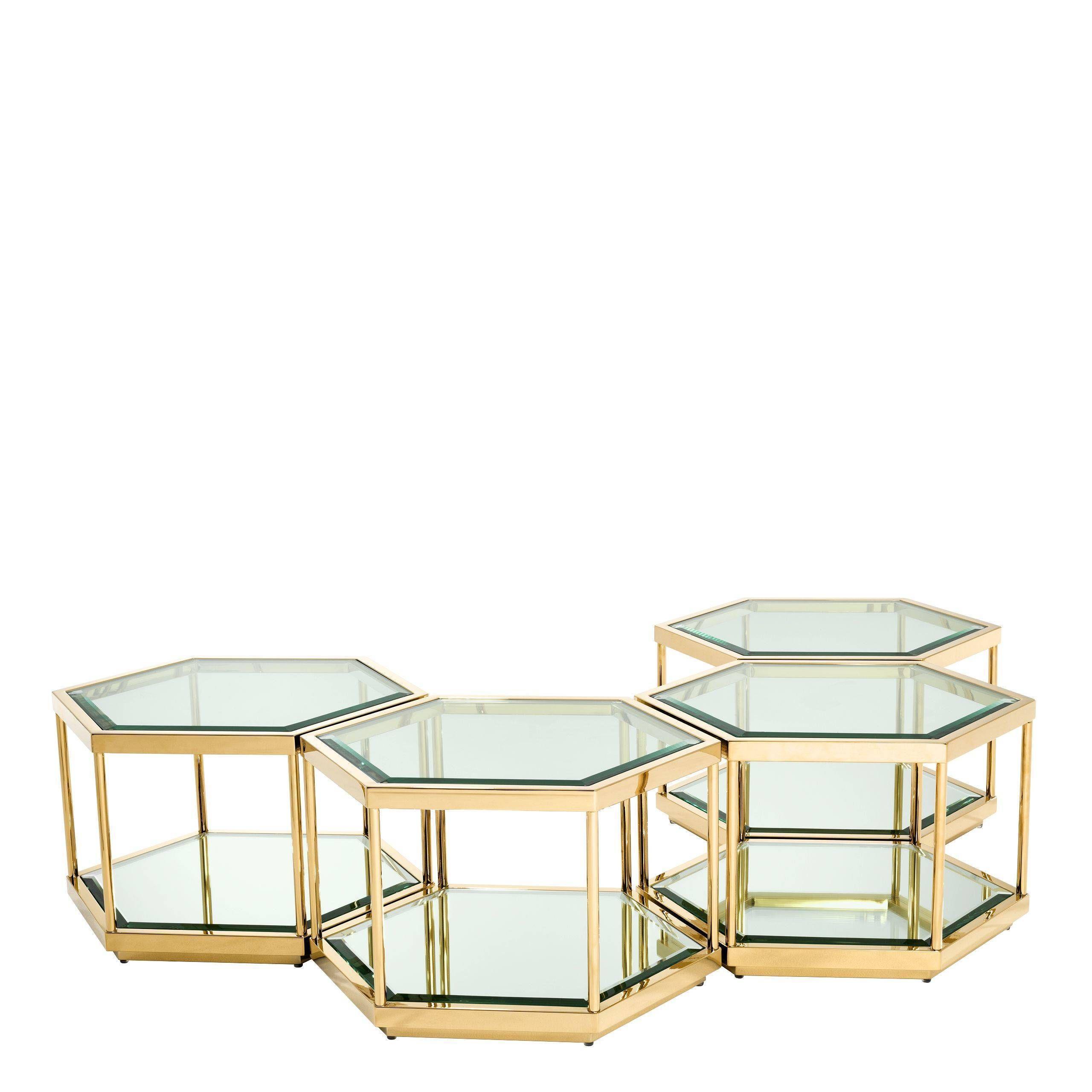Gold Hexagonal Coffee Table Set Eichholtz Sax In 2021 Hexagon Coffee Table Gold Coffee Table Coffee Table Setting [ 2560 x 2560 Pixel ]