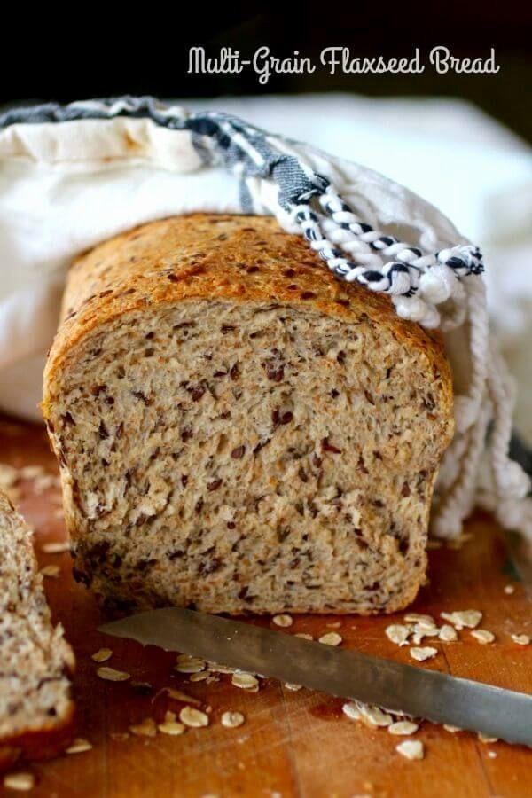 Multigrain Seeded Bread Recipe in 2020 | Flaxseed bread ...