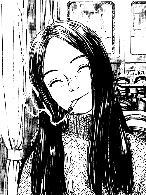 black and white, manga cap, and girl image Ilustração da
