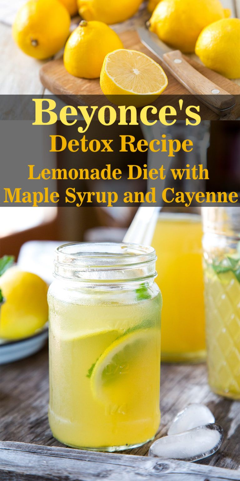 Beyonce S Detox Recipe Lemonade Diet With Maple Syrup And