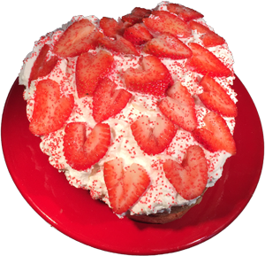 Pink heart shaped cake. This looks – and tastes – fantastic! And it's so simple