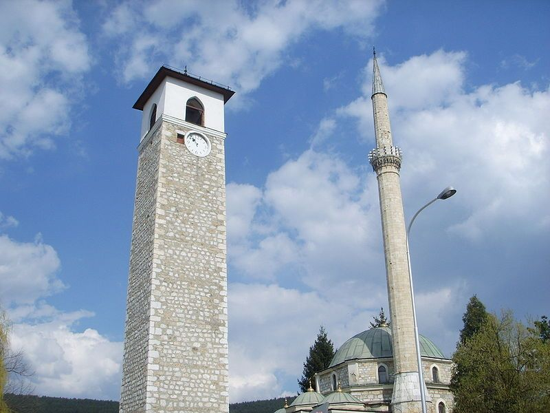 Husein-paša's mosque with the tallest minaret (42m) in the Balkans-Pljevlja