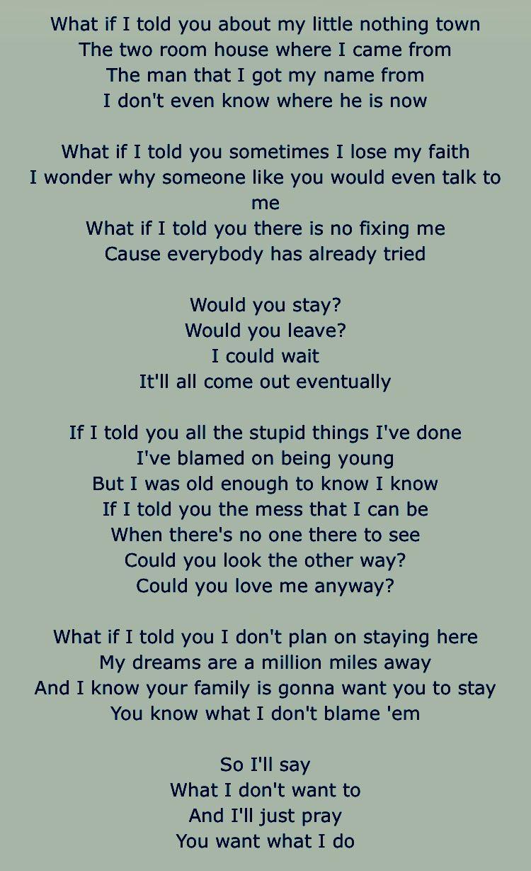 If i told you that i love you lyrics