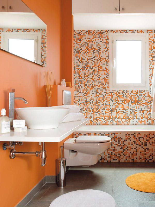 Ba os bien distribuidos ba o de colores y cuarto de ba o for Ver banos modernos