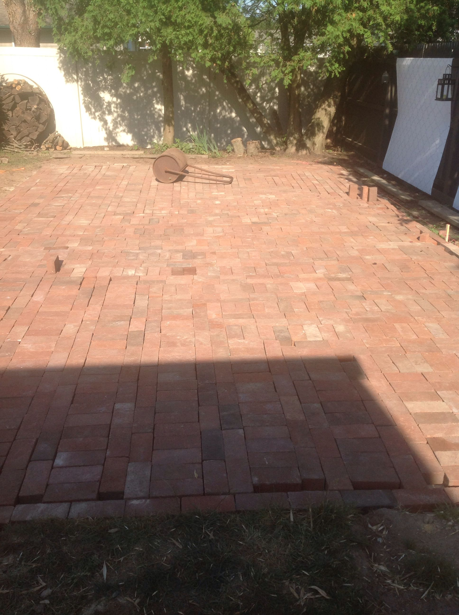 Diy 500 Square Foot Recycled Paver Patio