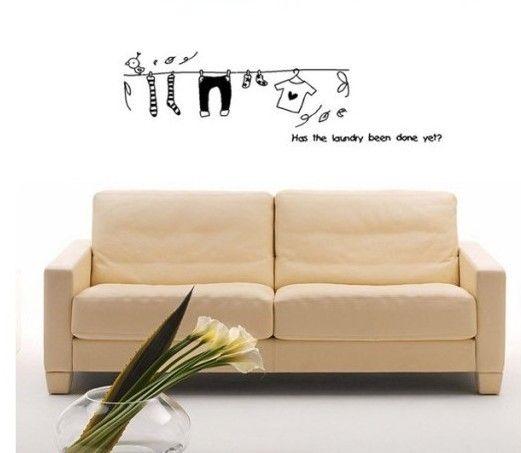 Livraison gratuite faire la lessive des vêtements Wall Sticker salon - faire une chambre dans un salon
