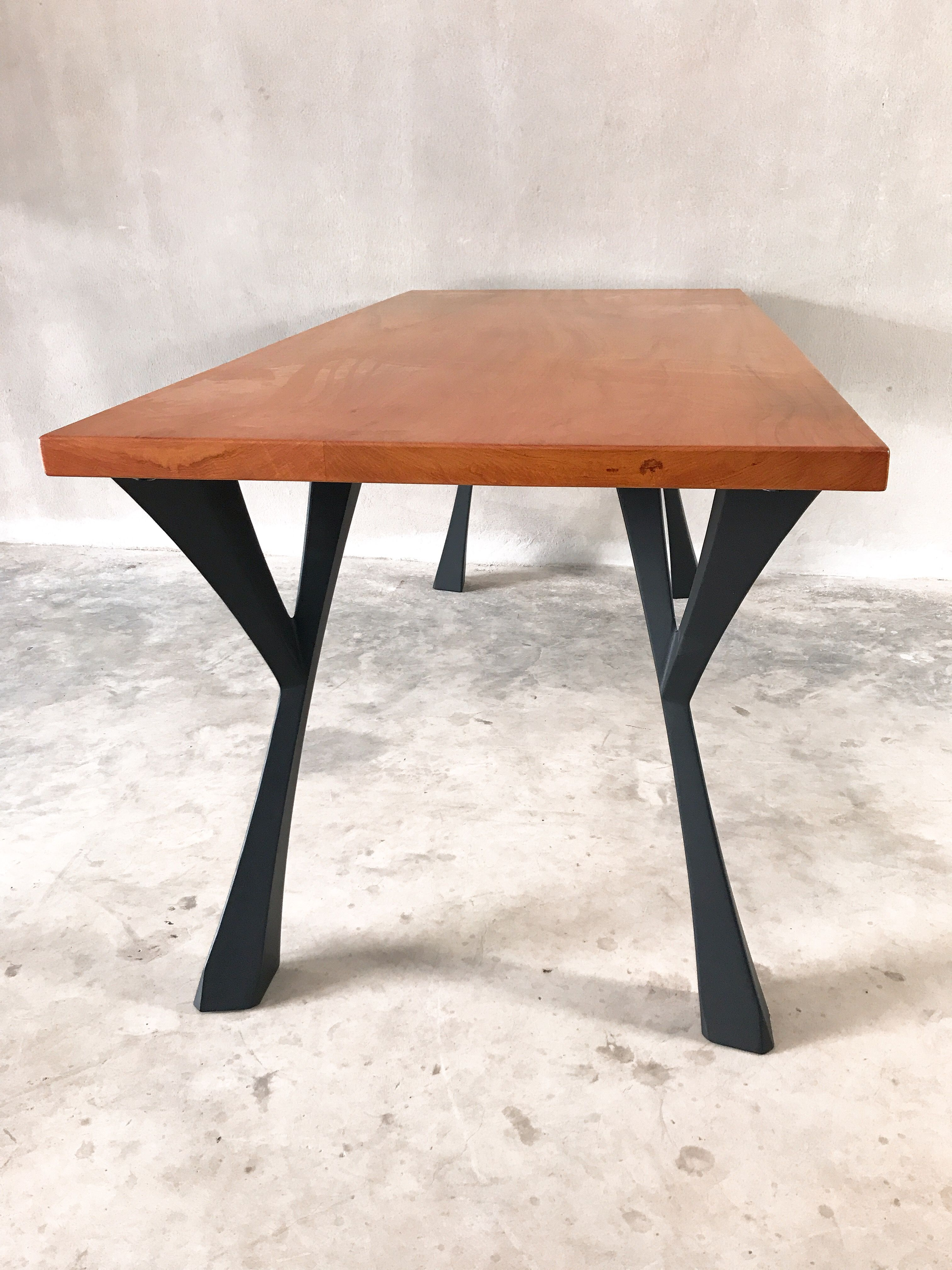 Table Metal Legs Base For Dinning Table Live Edge Table River