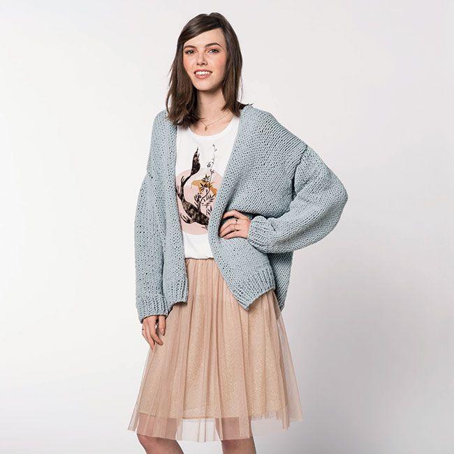Modele veste femme grosse laine