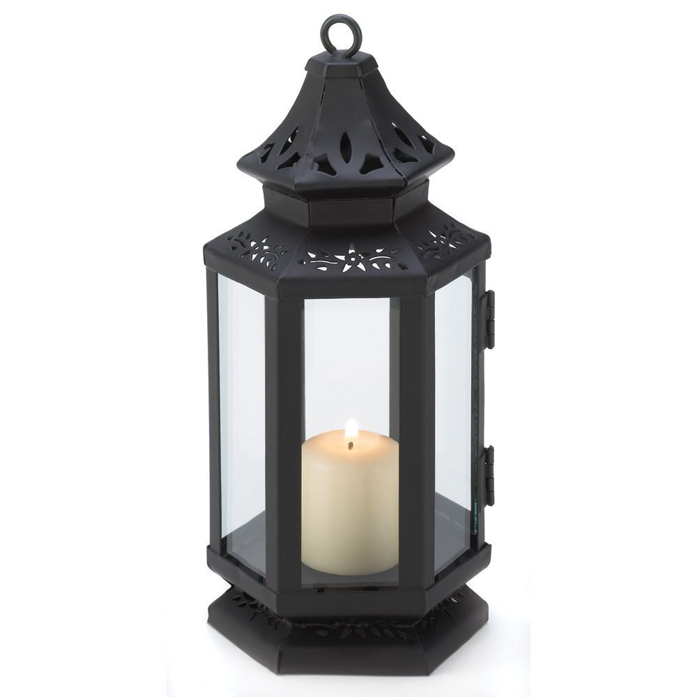 black wholesale candle lantern wedding centerpieces for event
