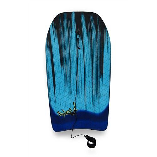 37 in. Teal Body Board Black Paint Streaks Design