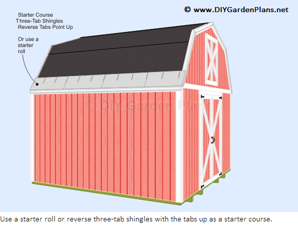 How To Install The Gambrel Shed Roof Shingles Barn Roof Building A Shed Roof Shed With Loft