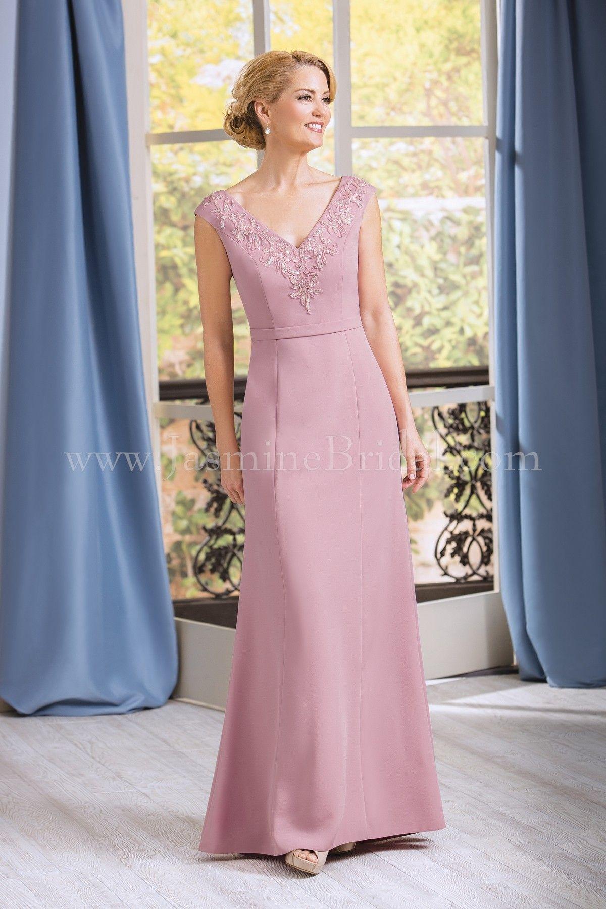 2803addd93c Jasmine Bridal Jade Style J185063 in Rose Petal