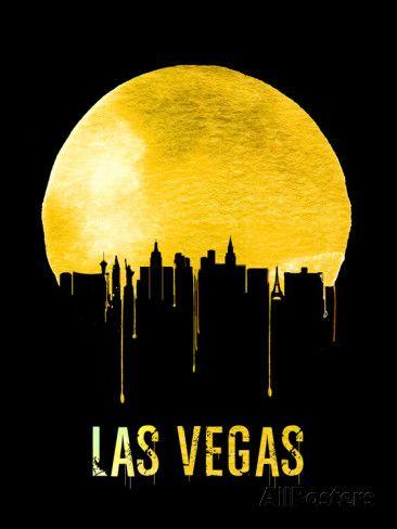 Las Vegas Skyline Yellow | Plastic signs, Vegas and Tattoo